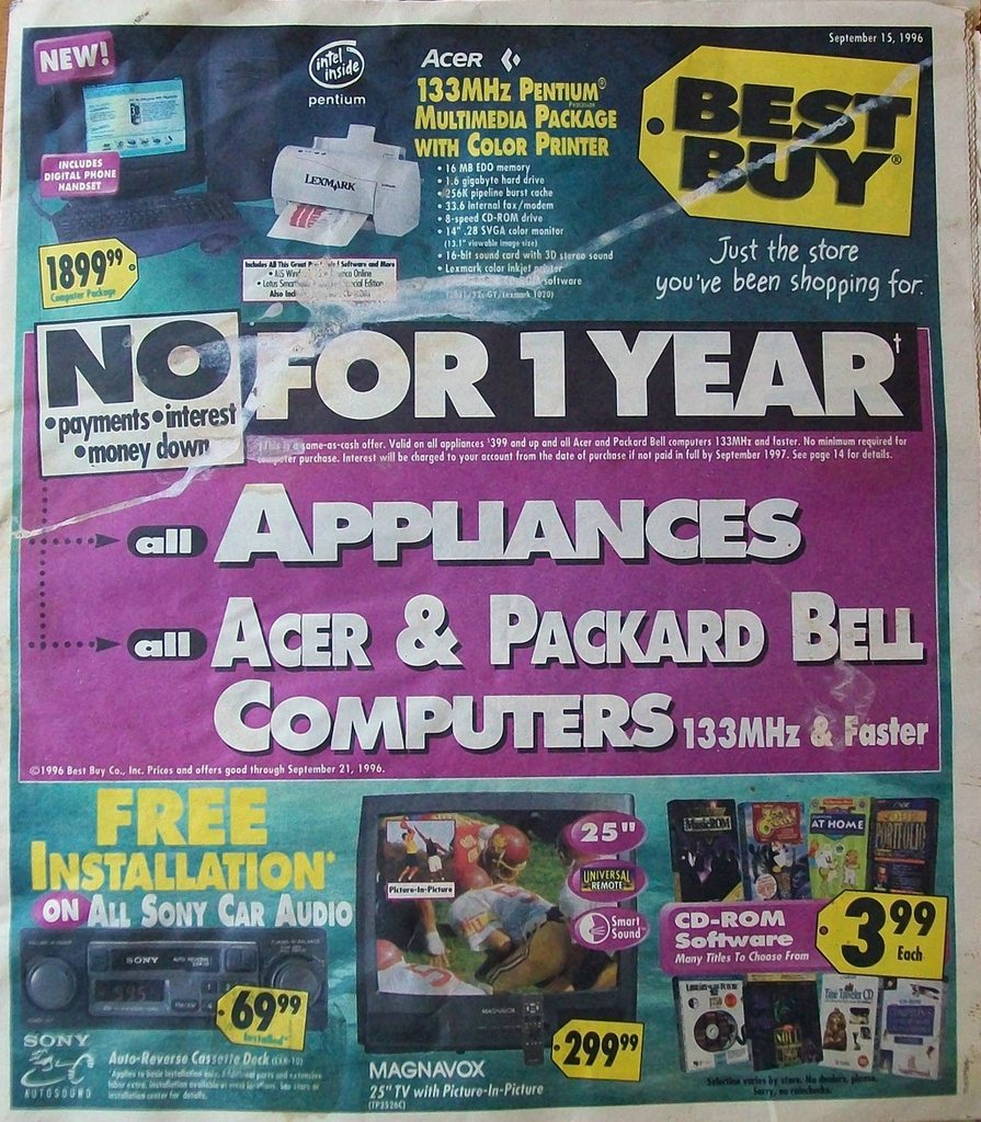 Vintage Best Buy ad