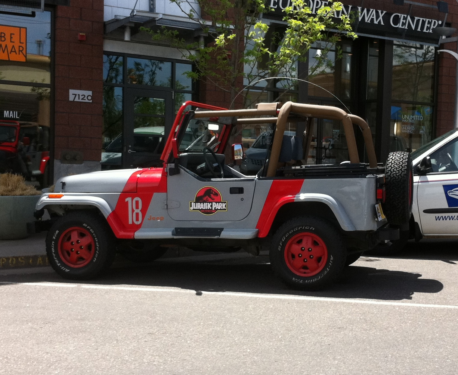 Real life jurassic park jeep