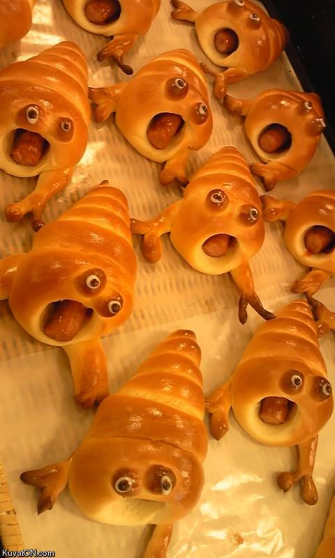 Halloween sausage rolls