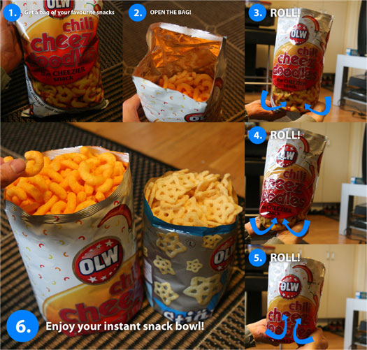 Instant snack bowl