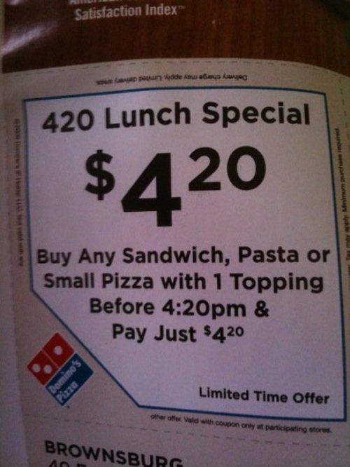 Dominos 420 special