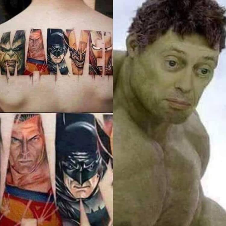 Marvel tattoo fail