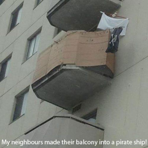 My neighbors made their balcony into a pirate ship!