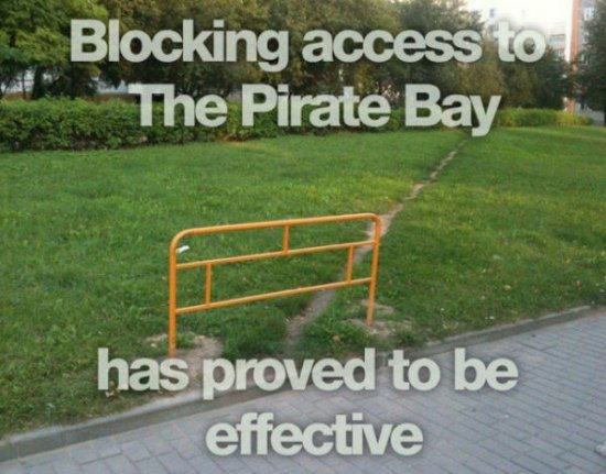 Blocking access to The Pirate Bay