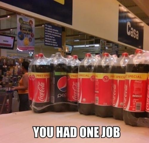 Pepsi you had one job