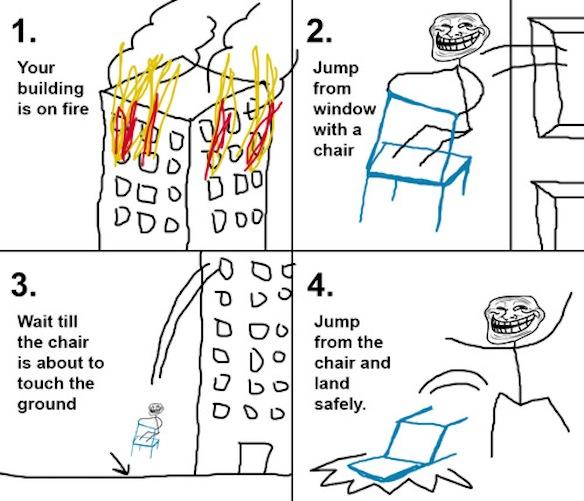 Troll physics jump