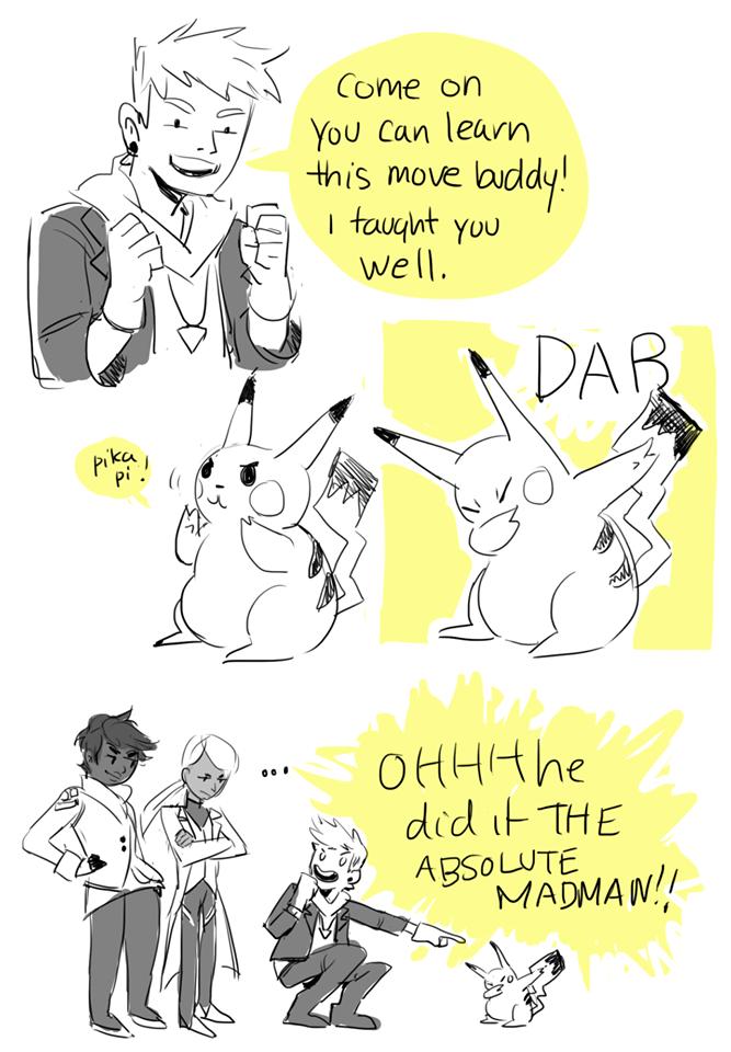 Spark teaching pikachu to dab