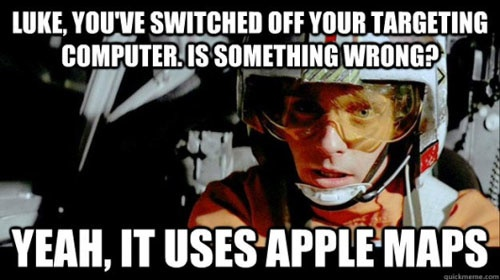 Star Wars Apple maps