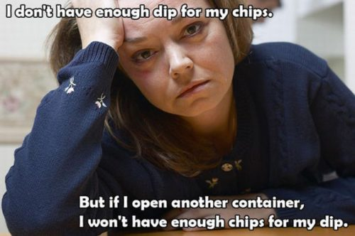 First world problems, chips vs dip