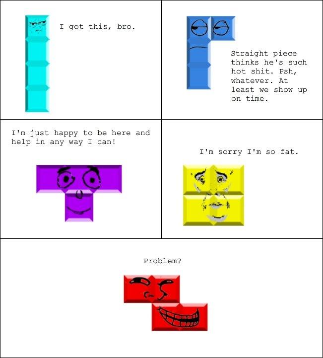 Rage comic tetris