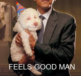 Obama stoned dog