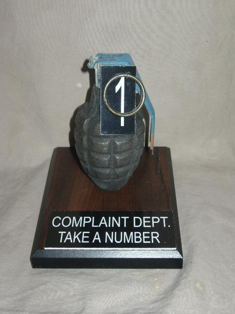 Complaint grenade