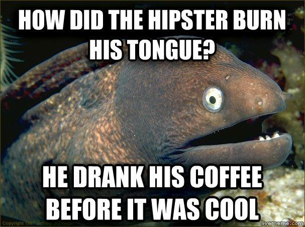 He drank his coffee before it was cool