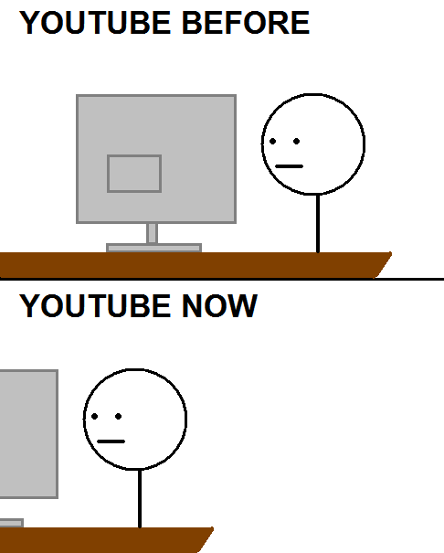 Youtube now vs before