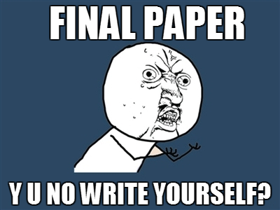 Final paper y u no