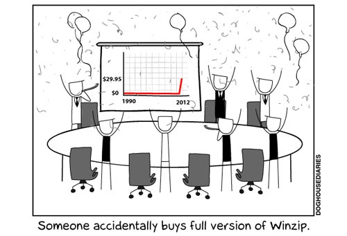 Winzip profits