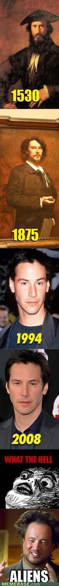 Keanu Reeves never age