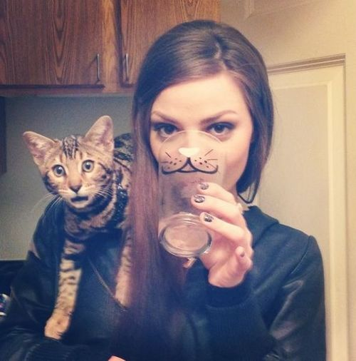 Girl cat face