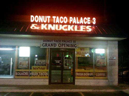 Donut Taco Palace 3 & Knuckles
