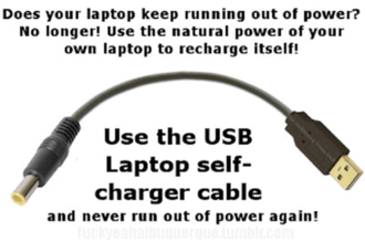 USB laptop charger troll
