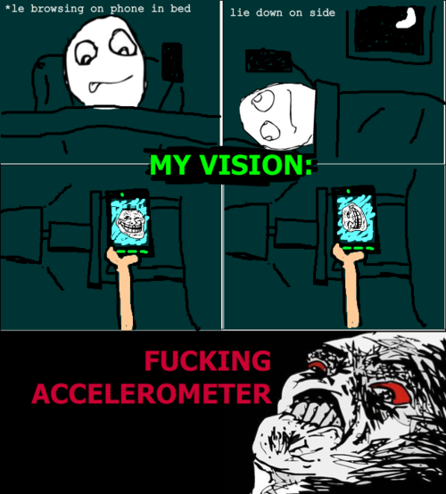 Rage comic accelerometer