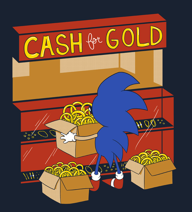 Sonic cash for gold