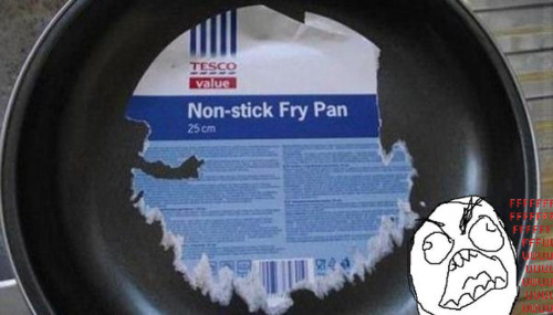 Non-stick fry pan fail