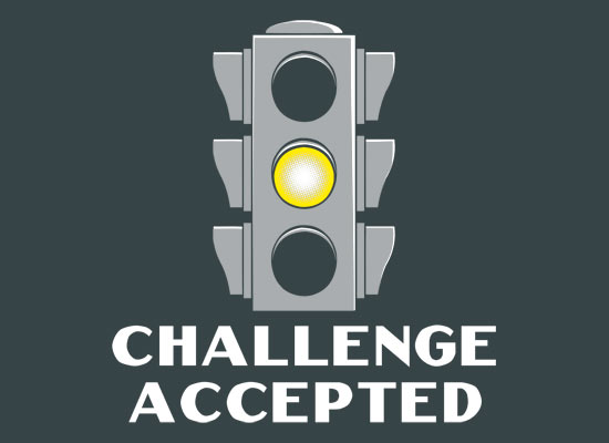 Yellow light challenge accepted