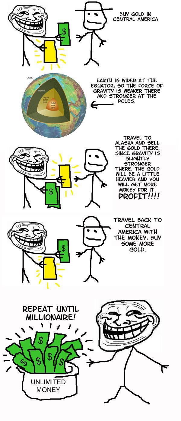 Troll money