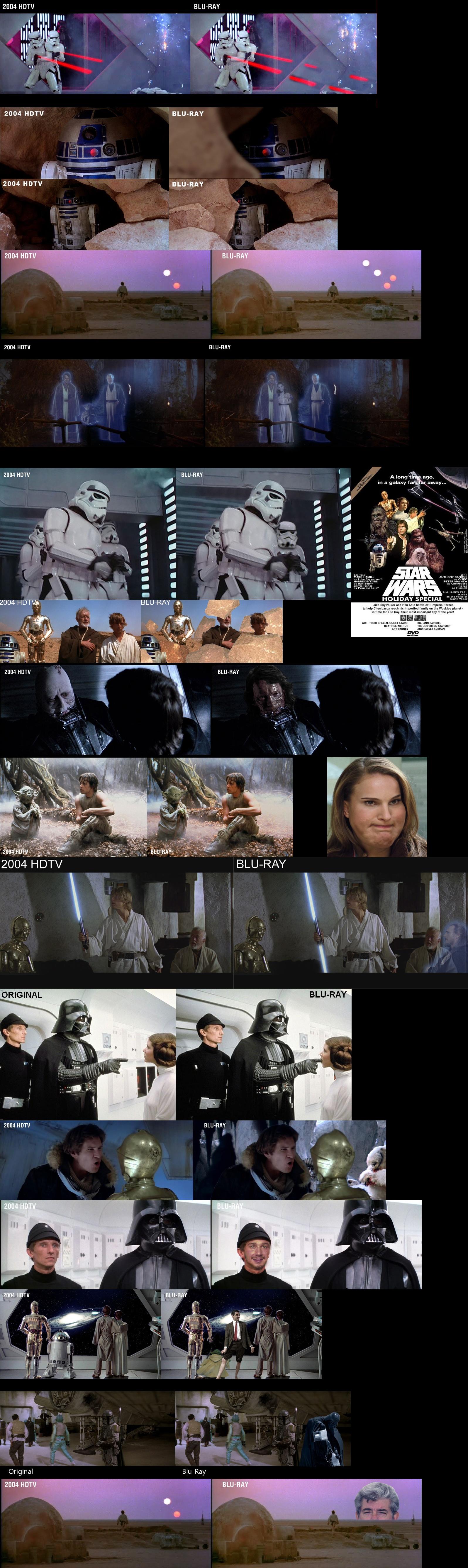 Star Wars original vs blu-ray