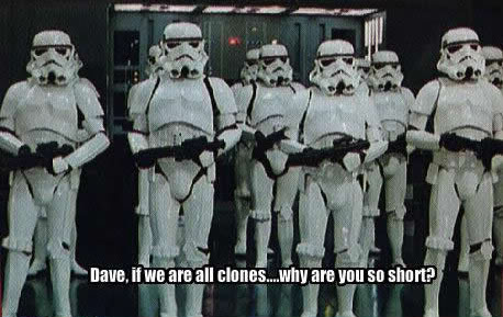 Star Wars stormtrooper clones fail