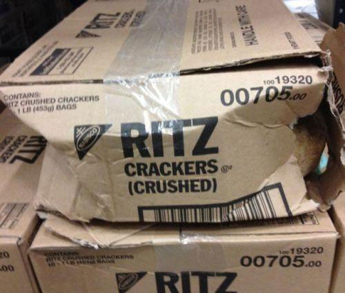 Ritz crushed crackers