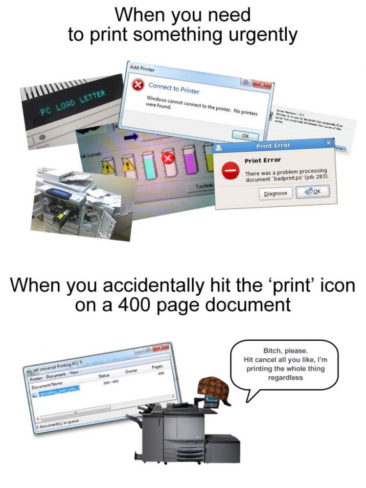 Douchebag printer
