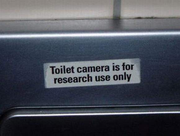 Toilet camera troll