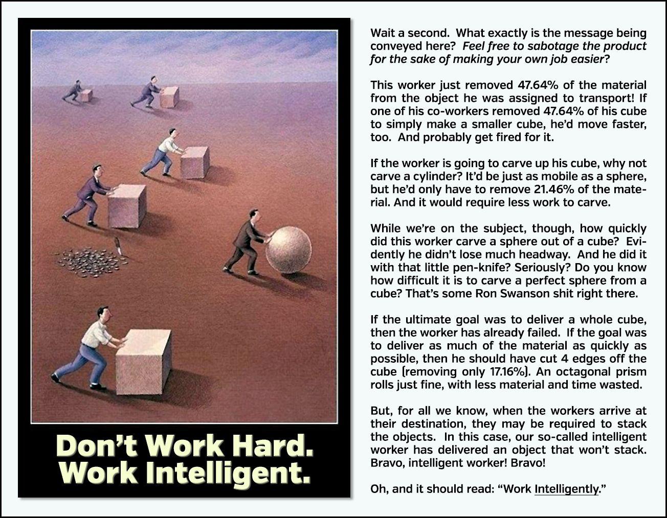Work hard fail