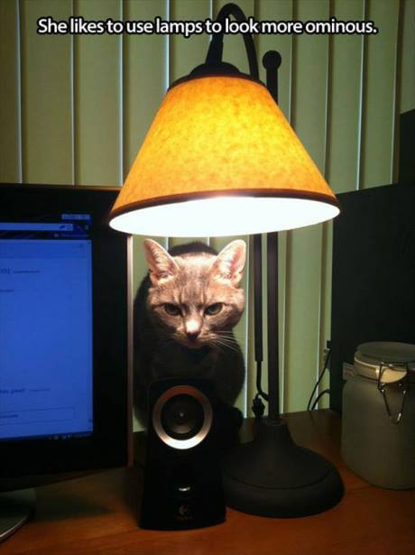 She likes to use lamps to look more ominous