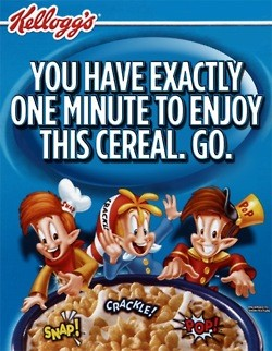 You have exactly one minute to enjoy this cereal