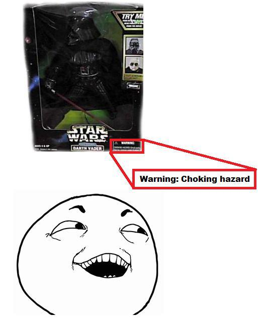 Darth Vader choking hazard