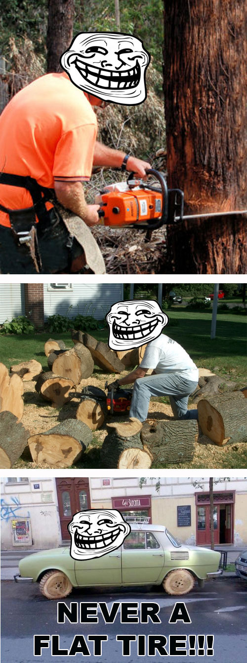 Troll wood tires