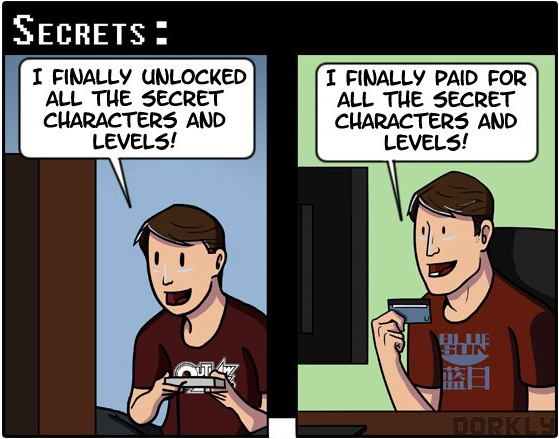 I finally paid for all the secret characters and levels!