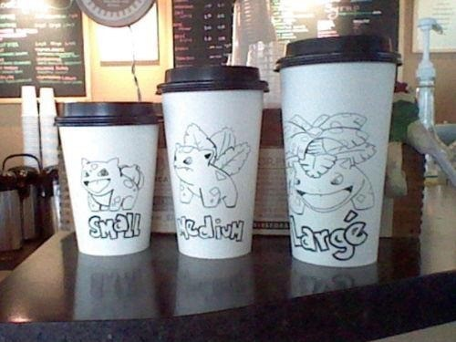 Pokemon coffee cups