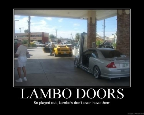 Lambo doors played out