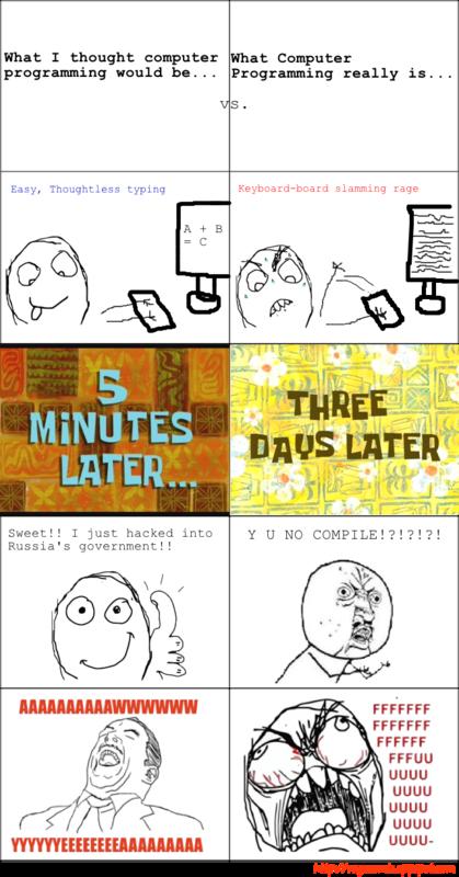 Computer programming rage comic