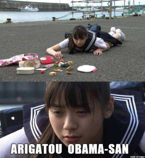 Japanese thanks Obama