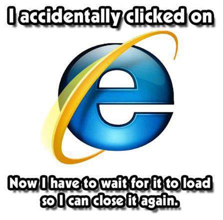 Accidentally click on IE