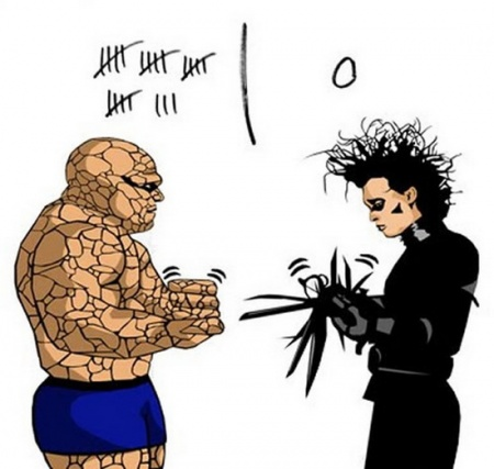 Edward Scissorhands rock scissor