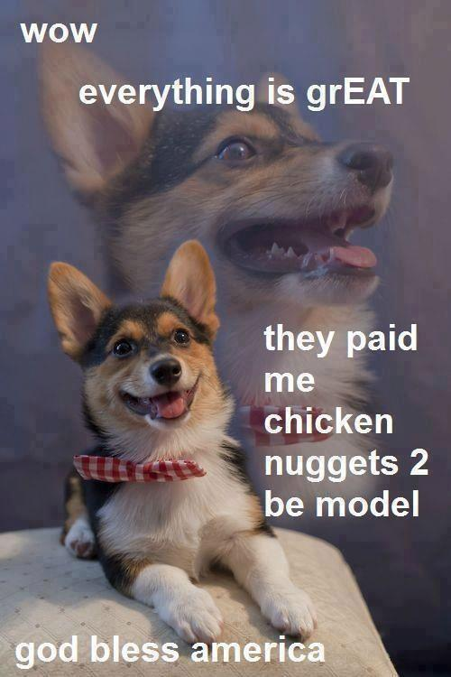 They paid chicken nuggets 2 be model