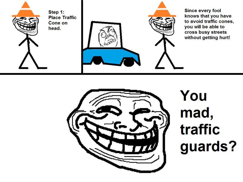 Troll traffic cone
