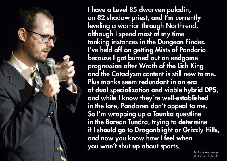 Sports vs MMORPGs