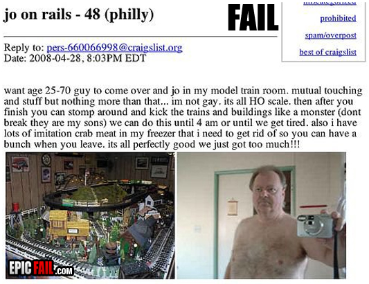 Model train craigslist fail